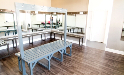 Changing rooms at DHY