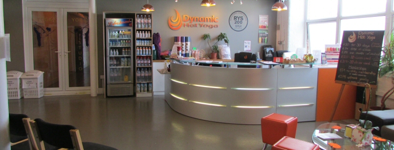 Dynamic Hot Yoga reception area