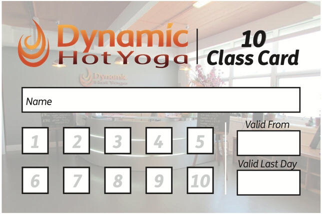 10 Class Card - Dynamic Hot Yoga